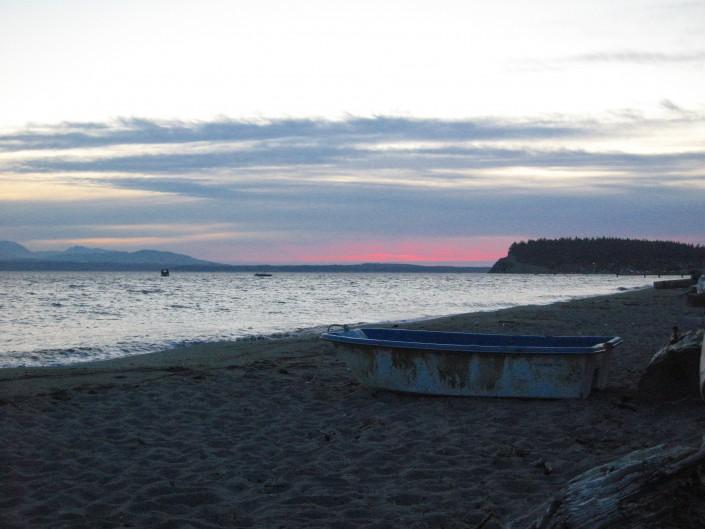 A Small Boat on Useless Bay