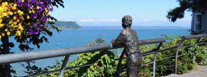 Langley Village Boy Statue