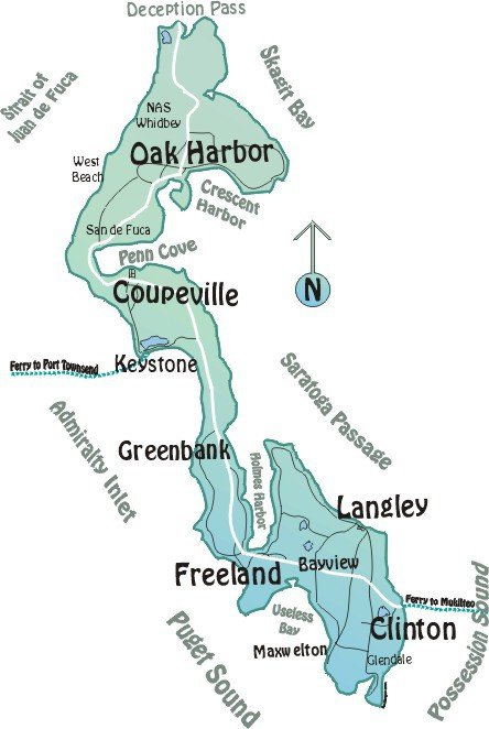 Map Of Whidbey Island Whidbey Island Maps   View Online or Print Via PDF